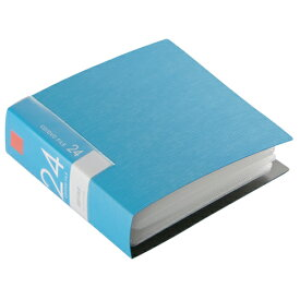 BSCD01F24BL バッファロー CD/DVDファイル 24枚収納タイプ(ブルー) ブックタイプ 24枚収納