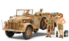 1/35MM ドイツ大型軍用乗用車シュタイヤー 1500A/01 アフリカ軍団休息セット【35305】 タミヤ