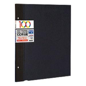 アH-LFR-5-D ナカバヤシ 替台紙 5枚(ブラック) Nakabayashi 100年台紙 Lサイズ