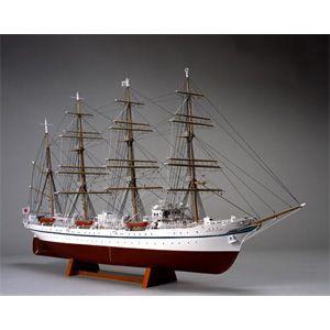 1/160 木製帆船模型 日本丸(帆なし(停泊)) ウッディジョー [UD 1/160 ニホンマル ホナシ]【返品種別B】
