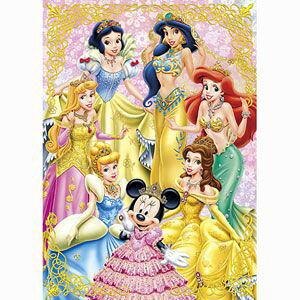 ディズニー ゴールドプリンセス 108ピース ジグソーパズル テンヨー 【Disneyzone】