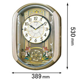 RE-567-G セイコークロック からくり時計 セイコーメロディ [RE567G]【返品種別A】