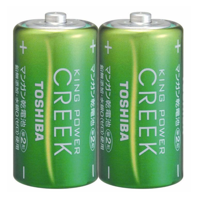 R14P-EM-2KP 東芝 マンガン乾電池単2形 2本パック TOSHIBA キングパワークリーク [R14PEM2KP]【返品種別A】