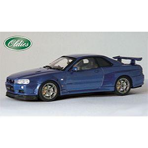 1/43 ニッサン スカイライン GT-R R34 VスペックII ブルー【44148】 EBBRO [EBBRO 44148 スカイライン ブルー]【返品種別B】