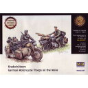【再生産】1/35 独・オートバイ兵4体サイドカー1台&ABERエッチング【MB35F48】 マスターボックス