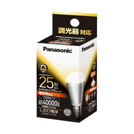 LDA6L-E17/D パナソニック LED電球 小形電球形 370lm(電球色相当)【調光器対応】 Panasonic EVERLEDS(エバーレッズ) [LDA6LE17D]