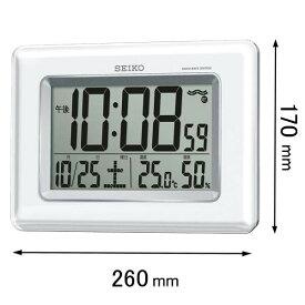 SQ424W セイコークロック 電波置き掛け兼用時計 デジタル [SQ424W]【返品種別A】