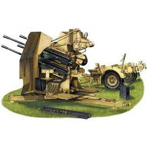 1/35 独・2cm 4連装対空機関砲 Flak38トレーラー付【CB35057】 ブロンコ