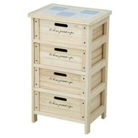 68094 不二貿易 木製4段ボックス(ナチュラル) HF05-003(N)