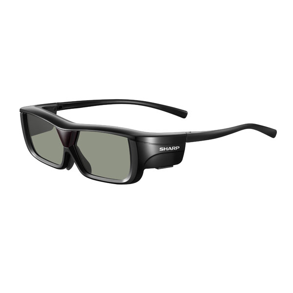 AN-3DG20-B シャープ AQUOS専用アクティブシャッターメガネ (3Dメガネ) ブラック系