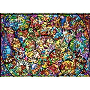 ディズニー オールスター ステンドグラス 2000ピース ジグソーパズル テンヨー 【Disneyzone】