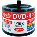 HDDR12JCP50SB2【税込】 HI-DISC 16倍速対応DVD-R 50枚パック 4.7GB ホワイトプリンタブル ハイディスク 詰め替え用 [HDD...