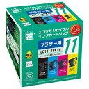 ECI-BR114P/BOX【税込】 エコリカ ブラザー用リサイクルインク(4色セット) LC11-4PK対応(LC11BK、LC11C、LC11M、LC11Y…