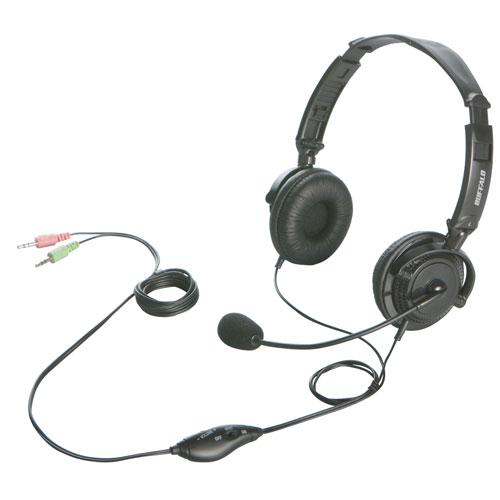 BSHSH12BK バッファロー ヘッドセット(両耳ヘッドバンド/ブラック) [BSHSH12BK]【返品種別A】