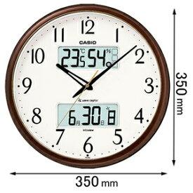 ITM-650J-5JF カシオ 温湿度計付 電波掛け時計(茶色) [ITM650J5JF]【返品種別A】