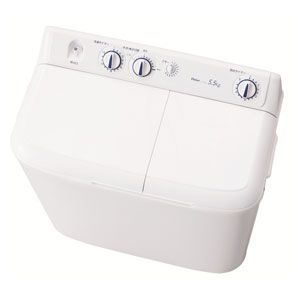 (標準設置料込)JW-W55E-W ハイアール 5.5kg 2槽式洗濯機 ホワイト Haier