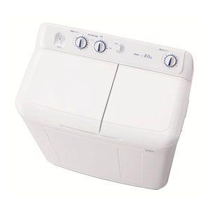 (標準設置料込)JW-W80E-W ハイアール 8.0kg 2槽式洗濯機 ホワイト Haier [JWW80EW]【返品種別A】
