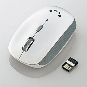 M-BL21DBWH エレコム 2.4GHzワイヤレス 5ボタンBlueLEDマウス(ホワイト) [MBL21DBWH]【返品種別A】