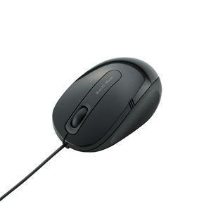 M-BL17UBBK エレコム 有線BlueLEDマウス Mサイズ(ブラック) [MBL17UBBK]【返品種別A】