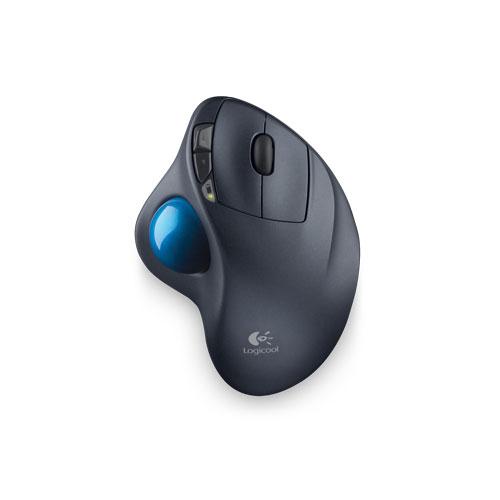 M570T ロジクール 2.4GHzワイヤレストラックボールマウス(シルバー&ブルー) Logicool Wireless Trackball M570t