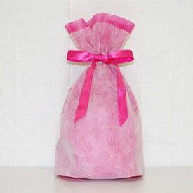 不織布リボン巾着袋 Sサイズ(ピンク) シモジマ