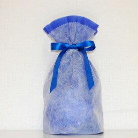 不織布リボン巾着袋 Sサイズ(ブルー) シモジマ