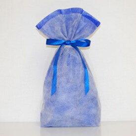 不織布リボン巾着袋 Mサイズ(ブルー) シモジマ