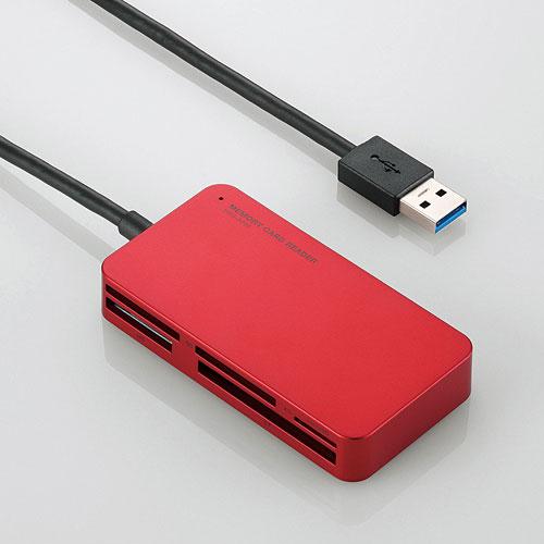 MR3-A006RD エレコム USB3.0対応カードリーダー/ライタ(レッド)