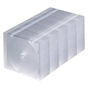 FCD-PU50C サンワサプライ DVD・CDケース(スリムタイプ・50枚セット・クリア) [FCDPU50C]【返品種別A】