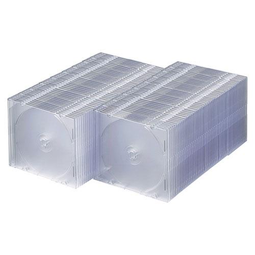 FCD-PU100C サンワサプライ DVD・CDケース(スリムタイプ・100枚セット・クリア) [FCDPU100C]【返品種別A】
