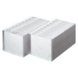 FCD-PU100MW サンワサプライ DVD・CDケース(スリムタイプ・100枚セット・マットホワイト)