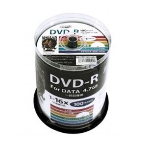 HDDR47JNP100 HIDISC データ用 16倍速対応DVD-R 100枚パック 4.7GB ホワイトプリンタブル ハイディスク [HDDR47JNP100]【返品種別A】