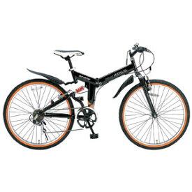 M-670 マイパラス 折りたたみ自転車 ATB 26インチ 6段変速 Wサス(ブラック) MYPALLAS