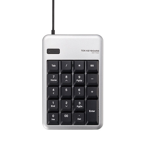 TK-TCM011SV エレコム USBテンキーボード(シルバー)