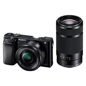 ILCE-6000Y-B ソニー デジタル一眼カメラ「α6000」ダブルズームレンズキット(ブラック)