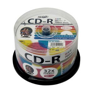 HDCR80GMP50 HIDISC 音楽用CD-R80分 50枚パック [HDCR80GMP50]【返品種別A】