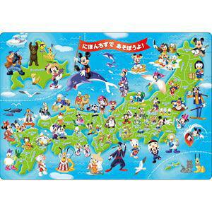 ディズニー めきめきチャイルドパズル ミッキーと日本地図であそぼうよ! 60ピース ジグソーパズル テンヨー