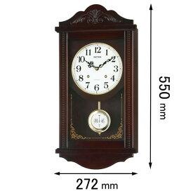4MJA01RH06 リズム 掛け時計 振り子時計 [アタツシユマンR]【返品種別A】