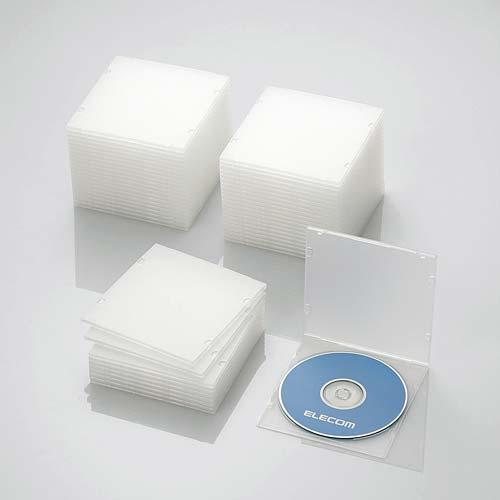 CCD-JPCS50CR エレコム Blu-ray/DVD/CDケース 50枚セット(スリム/PP/1枚収納・クリア)