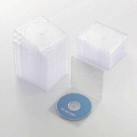 CCD-JSCS50CR エレコム Blu-ray/DVD/CDケース 50枚セット(スリム/PS/1枚収納・クリア)