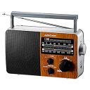 RAD-F770Z-WK【税込】 オーム ワイドFM/AM ポータブルラジオ(木目調) AudioComm OHM [RADF770ZWK077776]【返品種...