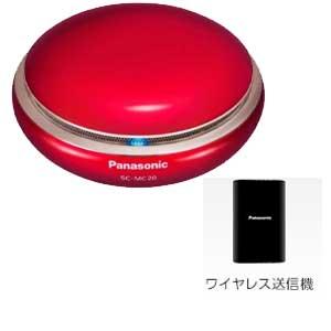 SC-MC20-R パナソニック Bluetooth対応ポータブルワイヤレススピーカーシステム(レッド) Panasonic  テレビにワイヤレス送信機をつないで、音声をスピーカーに送信