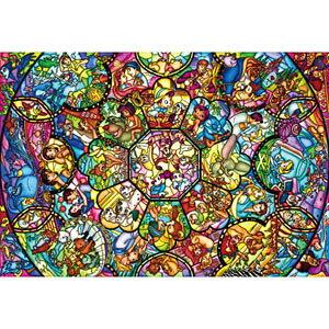 ディズニー オールスター ステンドグラス ピュアホワイト ぎゅっと266ピース ジグソーパズル テンヨー 【Disneyzone】