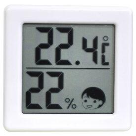 O-257WT ドリテック デジタル温湿度計(ホワイト) dretec