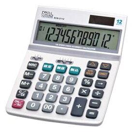 ECD-2112S ナカバヤシ 卓上電卓 12桁 デスクトップ多機能タイプM
