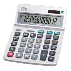 ECD-2113S ナカバヤシ 卓上電卓 12桁 デスクトップ多機能タイプL