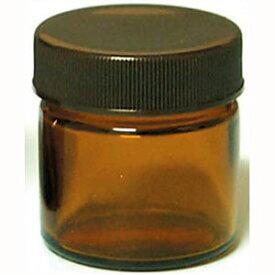 13-664-9010 生活の木 茶色ガラス・クリーム容器(25ml) [136649010]