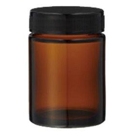 13-691-5050 生活の木 茶色ガラス・クリーム容器(100ml) [136915050]