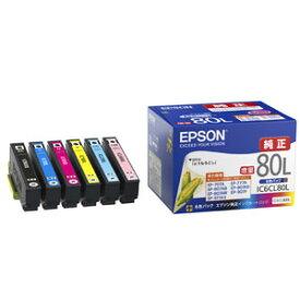 IC6CL80L エプソン 純正インクカートリッジ(6色セット・増量) EPSON とうもろこし