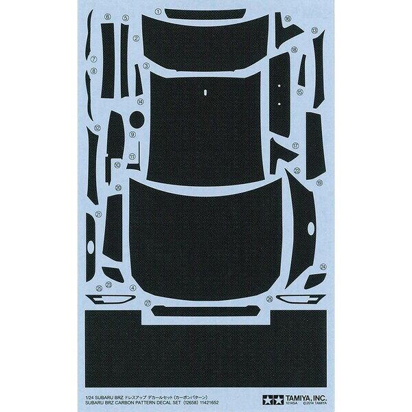 1/24 SUBARU BRZ ドレスアップデカールセット(カーボンパターン)【仮称】【12658】 タミヤ